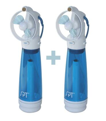 SF-241WM Personal Hand-Held Misting Fan with Child Proof Blades  Ultra-Fine Continuous Mist Carabineer for Easy Carrying(Set of