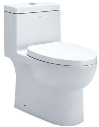 "TB359 Dual Flush Eco-Friendly Low Flush Ceramic Toilet with Porcelain  Standard 12"" Rough In  Water Sense Certified  Large 2"" Fully Glazed Trap  Balanced Water"