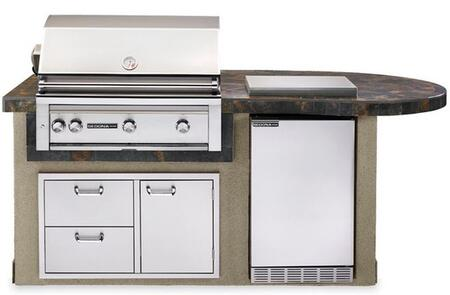 L2600GNG Sedona Deluxe Island Package Includes Sedona Grill  Sedona Outdoor-Rated Refrigerator  Double Side Burner and Door Drawer Combo: Falcon