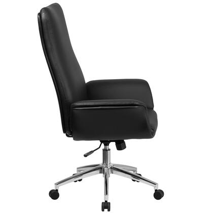 BT-88-BK-GG High Back Black Leather Executive Swivel Chair with Flared