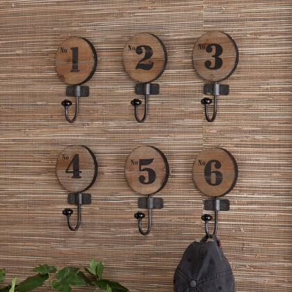HZ0270 Decorative 6pc Numbered Hook