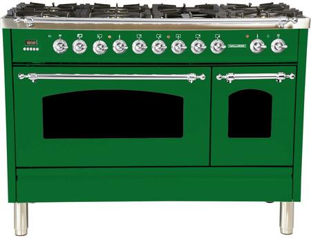 HGR4802DFGN 48 inch  Dual Fuel Natural Gas Range with 7 Sealed Burners  5 cu. ft. Total Capacity True Convection Oven  Griddle  in