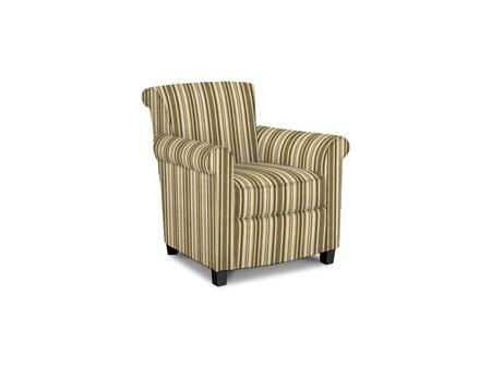Roosevelt Collection 1148-02/BE92-1 31 inch  Accent Chair with Fabric Upholstery  Rolled Tight Back  Welted Sock Arms and Contemporary Style in Woven Stripe