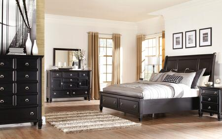 Greensburg King Bedroom Set With Storage Bed  Dresser  Mirror And Chest In