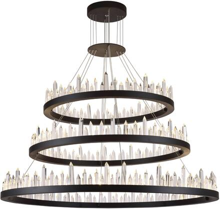 1705G3LSDG 1705 Malta Collection Chandelier L:42 In W:42In H:29In Lt:128 Satin Dark Grey Finish (Royal Cut