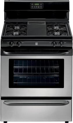 73033 30 Freestanding Gas Range with 4 Burners  4.2 cu. ft. Oven Capacity  Broil & Serve Drawer and Steel Grates in Stainless