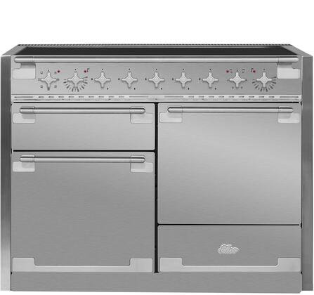 "AEL48INSS 48"" AGA Induction Range with 6.0 cu. ft. Capacity Residual Heat Inductor Overheat Detection Child Safety Lock 9 Power Levels and Pan Detection"