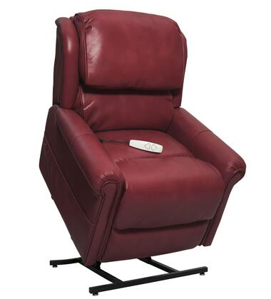 Uptown NM2350-BRO-A0A 34 inch  Power Recliner Lift Chair with 3-Position Mechanism  Split Back Design and Chaise Pad in
