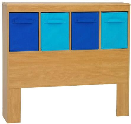 Jason Collection 12301 43 inch  Boy's Storage Bin Headboard with 4 Drawers and Durable PVC Finish in
