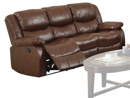50010 Fullerton Motion Sofa with Recliner Mechanism  Plush Padding and Bonded Leather Upholstery in