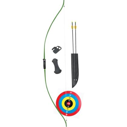 AYS6500 Titan Right/Left-Handed Youth Bow Set with 2 Safetyglass Arrows  Armguard  Arrow Quiver  Finger Tab  and
