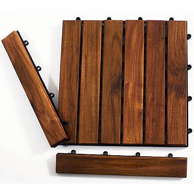 899029001590 Le click Teak Set of 2 End Pieces with Loop