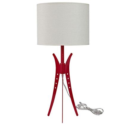 EEI-313-WHI Flair Table Lamp in White