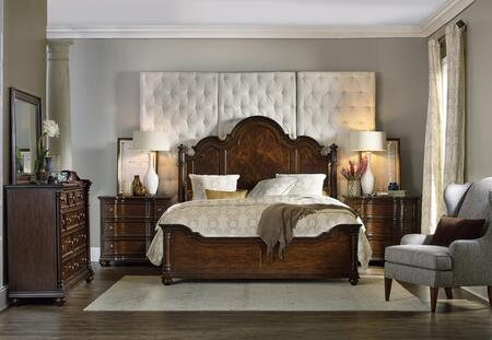 538190660KPB2CDM 5-Piece Leesburg Collection Bedroom Set with California King Size Panel Bed + 2X Chest + Dresser + Mirror  in