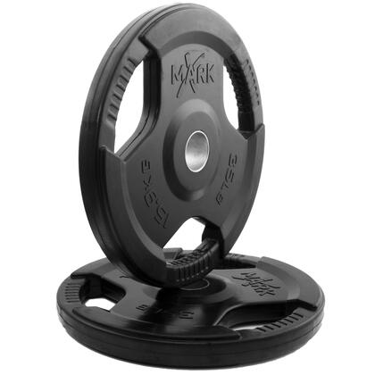 XM-3377-35-P XMark Rubber Coated Tri-grip Olympic Plate Weight