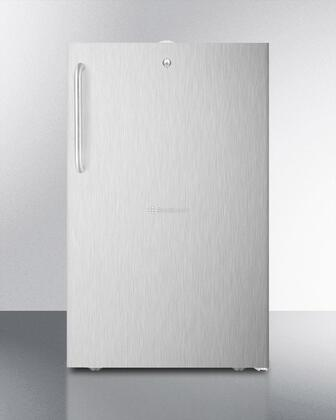 CM411L7CSSADA 20 inch  Built-In Refrigerator-Freezer with a Lock  Fully Finished Cabinet  Stainless Steel Interior  Professional Tower Bar Handle  Manual Defrost