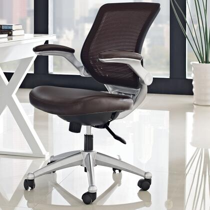 EEI-597-BRN Edge Leather Office Chair in Brown