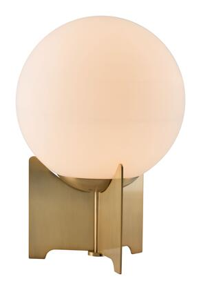 56049 Pearl Table Lamp White & Brushed