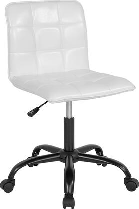 Sorrento Collection DS-512C-WH-GG Home and Office Task Chair with LeatherSoft Upholstery  Quilted Design and Swivel Seat in