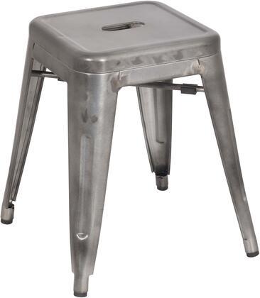 8018-SC-GUN Galvanized Steel Side Chair in Gun