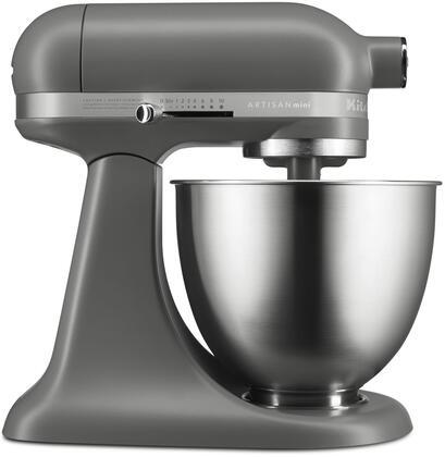 KitchenAid KSM3311XFG Artisan Mini Stand Mixer with Flex Edge Beater, Matte Gray, 3.5 Quart