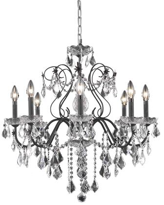 V2015D26DB/RC 2015 St. Francis Collection Chandelier D:26In H:23In Lt:8 Dark Bronze Finish (Royal Cut