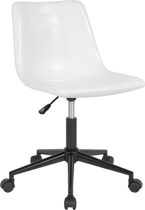 Siena Collection DS-530A-WH-GG Home and Office Task Chair with  Low Back Design  CA117 Fire Retardant Foam and Swivel Seat in