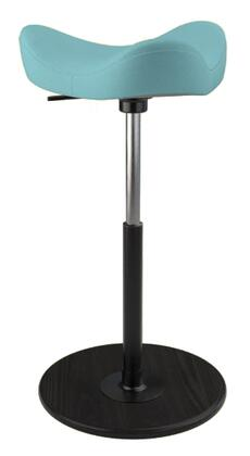 MOVE 2600 DINIMICA 9082 BLK HI BLK 26 inch  - 34 inch  Sit-Stand Chair with Dinimica Upholstery  9082 Color Code  Black Ash Base  High Lift Height and Black Gas