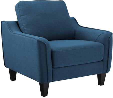 Jarreau 1150320 Chair with Tapered Legs  Piped Stitching and Fabric Upholstery in