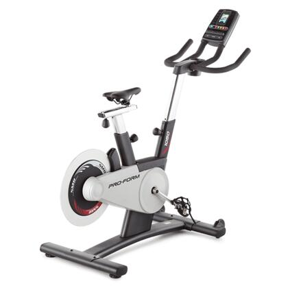 "PFEX05910 Tour de France 1.0 iFit Enabled Upright Bike with 10 Google Maps Workouts  Compatible Music Port for iPod  3.5"" Full Color Display  Water Bottle"