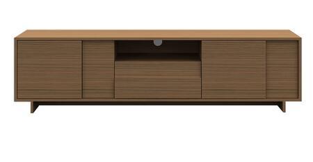 CP1107TV-K02-MP Timber TV Unit with Storage Shelf in Light Birch