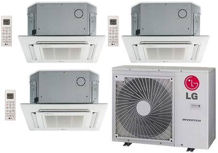 LMU36CHVPACKAGE36 Triple Zone Mini Split Air Conditioner System with 36000 BTU Cooling Capacity  3 Indoor Units  Outdoor Unit  and 3 Grille 704514