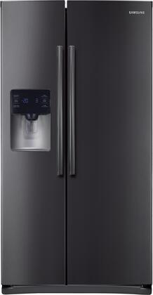 "RS25H5111SG 36"" Side-By-Side Refrigerator with 24.5 cu. ft. Capacity  LED Tower Lighting  Twin Cooling Plus  Filtered Water and Ice Dispenser  in Black"