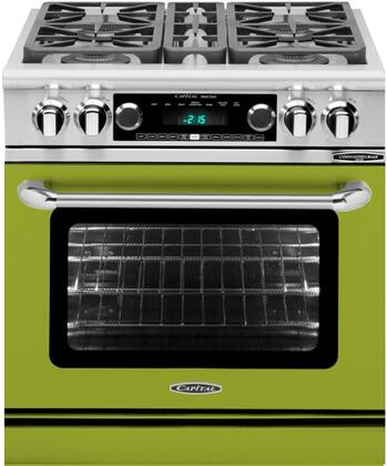 CSB304EN 30 inch  Connoisseurian Series Natural Gas Dual Fuel Range with 4 Sealed Burners  Moto-Rotis  Meat Probe and Flex-Roll Oven Racks  in Pale