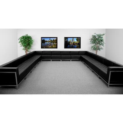 ZB-IMAG-U-SECT-SET3-GG HERCULES Imagination Series Black Leather U-Shape Sectional Configuration 16