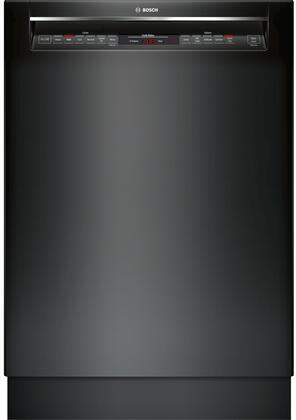 Bosch SHEM78W56N 800 Series 24 Inch Built In Full Console Dishwasher with 6 Wash Cycles, in Black