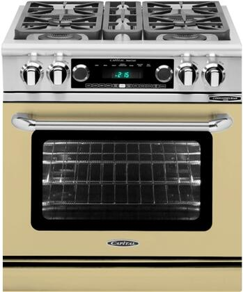 CSB304AN 30 inch  Connoisseurian Series Natural Gas Dual Fuel Range with 4 Sealed Burners  Moto-Rotis  Meat Probe and Flex-Roll Oven Racks  in Oyster