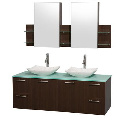 WCR410060DESGGGS6MED 60 in. Double Bathroom Vanity in