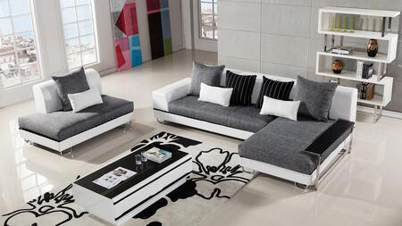 AE-L131 Collection AE-L131L 4-Piece Living Room Set with Left Arm Facing Sofa  Chaise  Loveseat and Side Table in