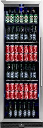 KBU-170B-SS 24 inch  Beverage Center with 14.3 cu. ft. Can Capacity  Temperature Alarm  Automatic Defrost  Security Lock  Left Hinge and Tempered Reversible Glass