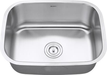 RVM4132 Undermount 16 Gauge 24 inch  Kitchen Sink Single