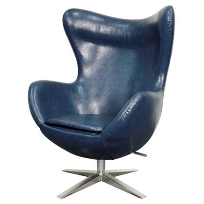 Max Collection 453043P-D4-CH Rocker Chair with Chrome Legs  360 Degree Swivel and PU Upholstery in Distressed