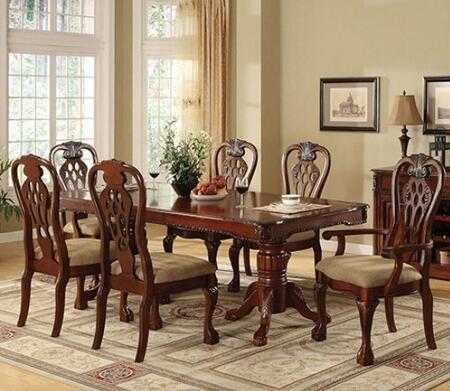 George Town Collection CM3222T4SC2AC 7-Piece Dining Room Set with Rectangular Table  4 Side Chairs and 2 Arm Chairs in Antique Cherry
