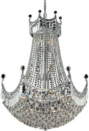 V8949D30C/SS 8949 Corona Collection Chandelier D:30In H:40In Lt:24 Chrome Finish (Swarovski   Elements
