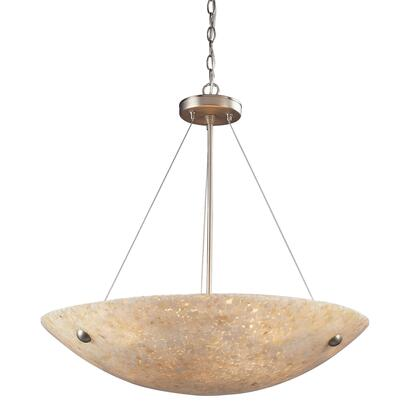 Click here for 8887/6 6 Light Pendant in Satin Nickel and Pearl prices