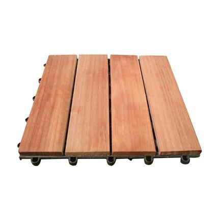 V488 4 Slat Acacia Interlocking Deck Tile (Teak
