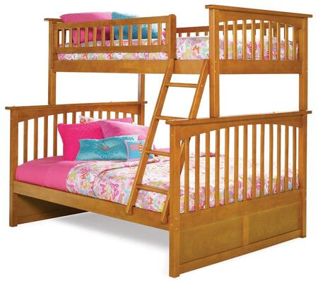Ab55207 68.13 Columbia Bunk Bed Twin Over Full In Caramel