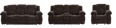 U1600-M1706-RSCRLSGR 3-Piece Living Room Set with Reclining Sofa  Reclining Loveseat and Recliner in