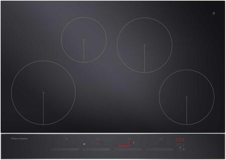 "CI304DTB2 36"" Induction Cooktop with 4 Elements PowerBoost GentleHeat Slide Controls and Minute Timer in Black with Stainless Steel"