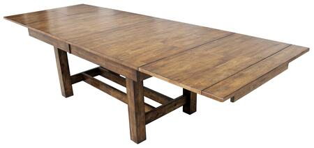 Mariposa MRPRW6080 78 inch -132 inch  Trestle Table with Three Self-Storing 18 inch  Butterfly Leaves  Metal Glides and Solid Square Legs in Rustic Whiskey